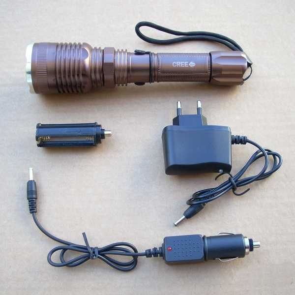 "Lanterna LED CREE ""Self Defense"" XML T6 reincarcabila"